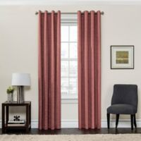 SolarShield® Sycamore 108-Inch Grommet Top Room Darkening Window Curtain Panel in Coral