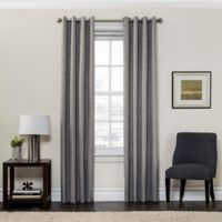 SolarShield® Sycamore 95-Inch Grommet Top Room Darkening Window Curtain Panel in Grey