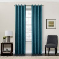 SolarShield® Sycamore 63-Inch Grommet Top Room Darkening Window Curtain Panel in Teal