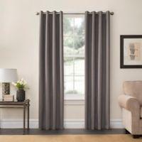 SolarShield® Oakwood 95-Inch Grommet Top Room Darkening Window Curtain Panel in Grey