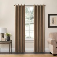 SolarShield® Oakwood 63-Inch Grommet Top Room Darkening Window Curtain Panel in Clay