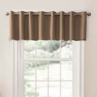 SolarShield® Oakwood Grommet Top Room Darkening Window Valance in Clay