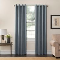 SolarShield® Oakwood 108-Inch Grommet Top Room Darkening Window Curtain Panel in Mineral