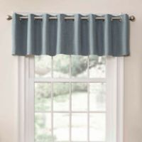 SolarShield® Oakwood Grommet Top Room Darkening Window Valance in Mineral