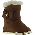 Michael Kors Size 3-6M Fur-Trimmed Boot in Camel