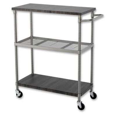 Home Zone 3 Tier Shelf Cart
