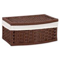 Household Essentials® Paper Rope Decorative Storage Basket in Brown