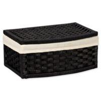 Household Essentials® Paper Rope Decorative Basket in Black