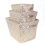 Closet Complete 3-Piece Metallic Trellis Storage Set in Rose Gold