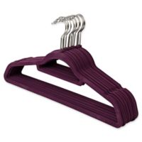 Real Simple® 12-Count Flocked Suit Hangers In Purple with Chrome Hook