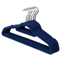 Real Simple® 12-Count Flocked Suit Hangers In Blue with Chrome Hook