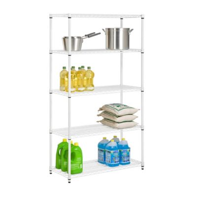 Honey Can Do® 5 Tier Adjustable Storage Shelving Unit In White
