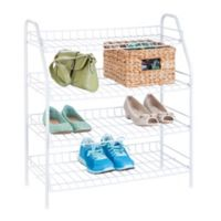 Honey-Can-Do® 4-Tier Shoe Storage Rack in White