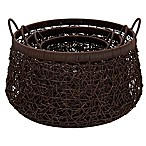 Household Essentials® 3-Piece Nested Wicker Basket Set in Espresso