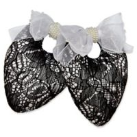 Protect My Shoes Bridal Lace Shoe Stuffers in Black/White