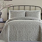 Jessica Simpson Medallion Full/Queen Coverlet in Charcoal Grey