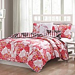 Flamingo Reversible King Quilt Set in Pink