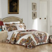 Chic Home Mahal 4-Piece Reversible King Quilt Set in Beige