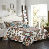 Chic Home Chapelle 4-Piece Reversible Queen Quilt Set in Blue