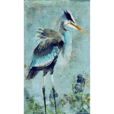 great blue heron   15 inch x 26 inch wood wall art buy heron wall art from bed bath  u0026 beyond  rh   bedbathandbeyond
