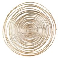Moe's Home Collection Spirals 24-Inch Circular Wall Art in Gold