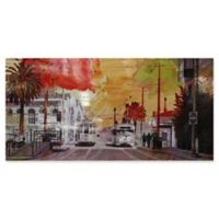 Moe's Home Collection Red Street Canvas Wall Art