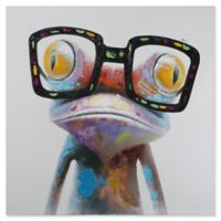 Hipster Froggy 48-Inch x 48-Inch Canvas Wall Art
