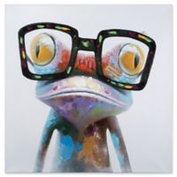 Hipster Froggy 40-Inch x 40-Inch Canvas Wall Art