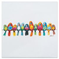 Birds on a Wire III 20-Inch Square Canvas Wall Art