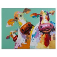 Yosemite Home Décor Curious Cows I Canvas Wall Art