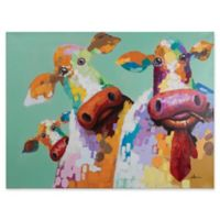 Yosemite Home Décor Curious Cows Canvas Wall Art