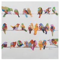 Bright Birds on a Wire II 360-Inch Square Canvas Wall Art