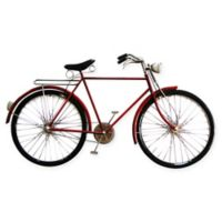 Moe's Home Collection Cruiser Bike Wall Art in Red