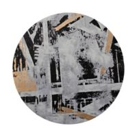 Moe's Home Collection Abstract City Round Wall Art