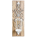 Home Essentials & Beyond Whitewash Candle Wall Sconce