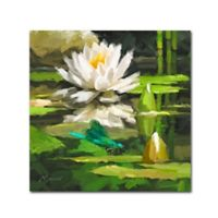 The Macneil Studio Water Lily 18-Inch Square Canvas Wall Art