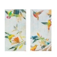 Madison Park® Hummingbirds' Hum Gel Coated Canvas Wall Art (Set of 2)