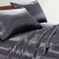 Satin Radiance 230-Thread-Count Standard Pillowcases in Black (Set of 2)
