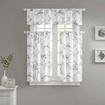Marble Valance and Window Curtain Collection