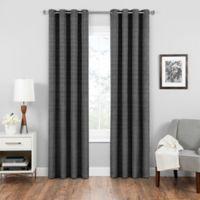 SolarShield® Vardan 108-Inch Grommet Top Room Darkening Window Curtain Panel in Black