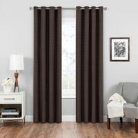SolarShield® Vardan 84-Inch Grommet Top Room Darkening Window Curtain Panel in Chocolate