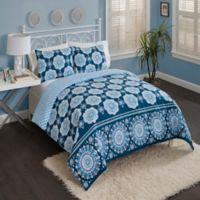 Vue Karma Love Full/Queen Reversible Comforter Set in Blue