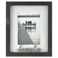 Rustic Gallery Family 5-Inch x 7-Inch Wood Picture Frame in Charcoal