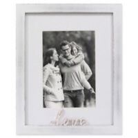 Rustic Gallery Love 5-Inch x 7-Inch Wood Picture Frame in White
