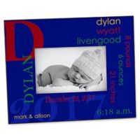 All About Baby For Him 4-Inch x 6-Inch Picture Frame