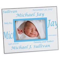 New Arrival Baby 4-Inch x 6-Inch Border Picture Frame