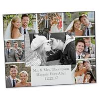 Photo Collage 4-Inch x 6-Inch Horizontal Wedding Picture Frame