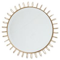 Madison Park Cirque Small Iron Circle Mirror in Gold