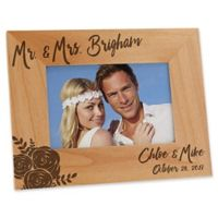 Modern Chic Wedding 4-Inch x 6-Inch Engraved Picture Frame