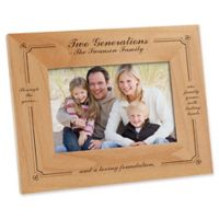 Generations of Family 4-Inch x 6-Inch Picture Frame